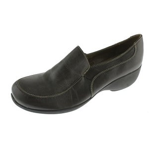 Naturalizer Womens Jacoba Leather Wedge Loafers