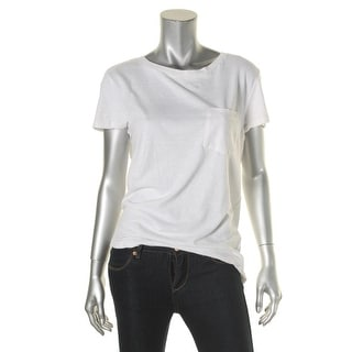 Denim & Supply Ralph Lauren Womens T-Shirt Pocket Front Jewel Neck - s