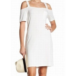 Splendid NEW White Womens Size Small S Cold-Shoulder Sheath Dress