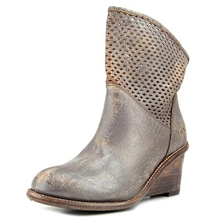 Bed Stu Dutchess Women  Round Toe Leather Gray Ankle Boot