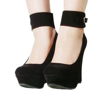 c07e4aa3166 Shop Women s Qupid Ankle Strap Platform Wedge Sandal (Worthy90) - Free  Shipping On Orders Over  45 - Overstock - 22817631
