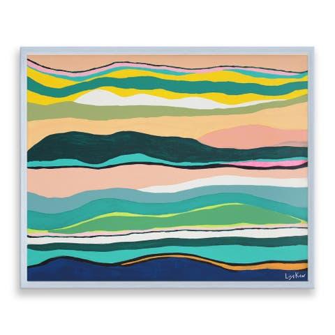 Porch & Den Lisa Kaw 'Boho Sunset' Framed Canvas Wall Art
