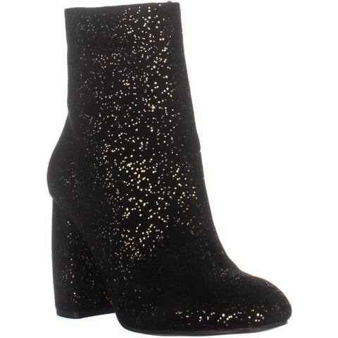 Nanette Lepore Lilly Ankle Boots, Black Sparkle - 7.5 US