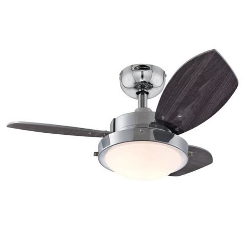 Westinghouse Wengue 30 in. Chrome Brown Indoor Ceiling Fan