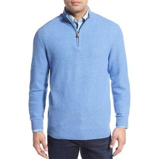 Vineyard Vines Quarter Zip Cashmere Sweater Hydrangea Blue Small S