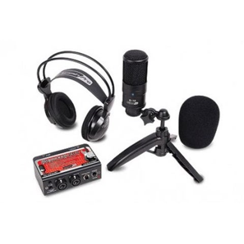Studio Recording Kit with USB Audio Interface Condenser Mic and