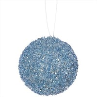 4.75 in. Baby Blue Sequin And Glitter Drenched Christmas Ball