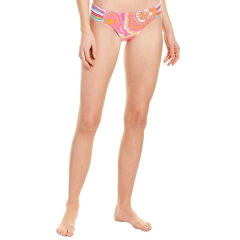 Trina Turk Morning Sunrise Shirred Bikini Bottom