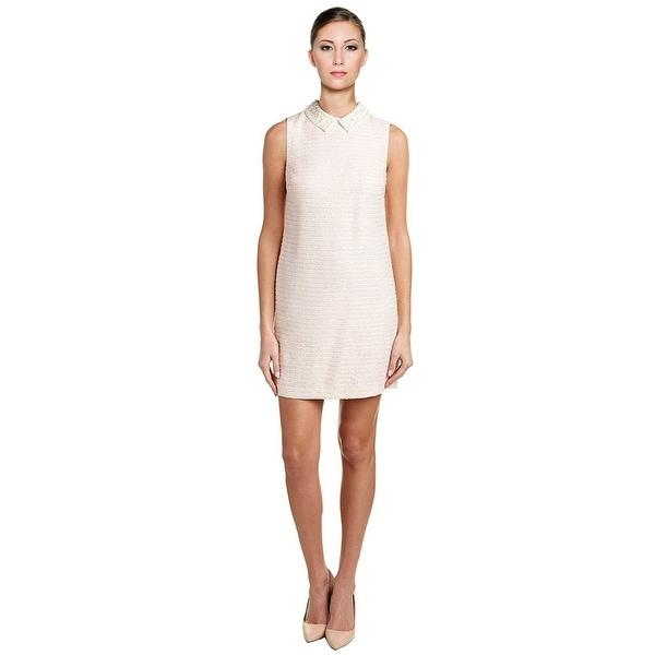 Shop Cece By Cynthia Steffe Imitation Pearl Collar Tweed Shift Dress