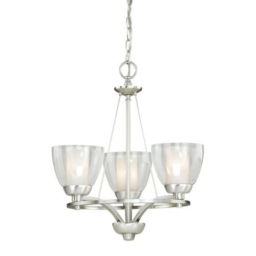 Vaxcel Lighting AA-CHU003 Asti 3 Light Single Tier Chandelier with Clear Glass Shades - 18 Inches Wide