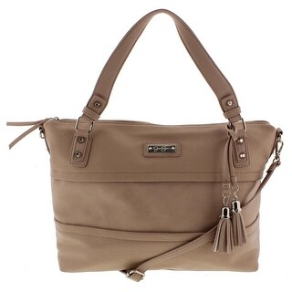 Jessica Simpson Womens Vesey Satchel Handbag Faux Leather Convertible - LARGE