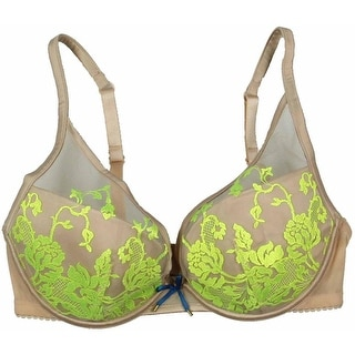 Heidi Klum Intimates Womens Lace Padded Underwire Bra - 32dd