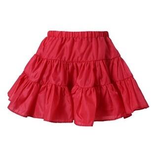 Richie House Little Girls Red Lightweight Ruffled Skirt 3-7