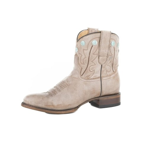 Roper Western Boots Womens Casandra Ankle Tan