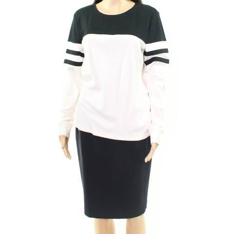 Lauren By Ralph Lauren Women's Ivory Size XXS Striped Colorblock Blouse