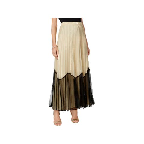 MSK Womens Maxi Skirt Long Pleated