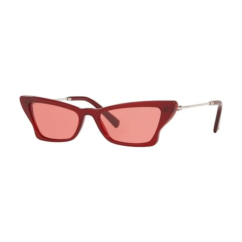 Valentino VA4062 507884 53 Opal Red Woman Irregular Sunglasses