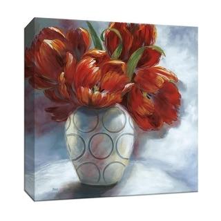 "PTM Images 9-146878  PTM Canvas Collection 12"" x 12"" - ""Arreglo en Rojo II"" Giclee Flowers Art Print on Canvas"