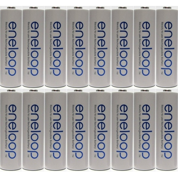 Panasonic Eneloop 4rd generation 16 Pack AA NiMH Pre-Charged Rechargeable Batteries+FREE BATTERY HOLDER