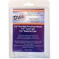 Dico Products 584-44340 Synthetic Tie-On Polishing Bonnet 6""