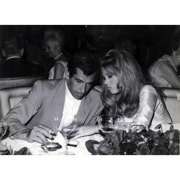 8d21d88344439 Jane Fonda and Roger Vadim at their wedding Photo Print