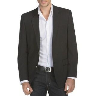 Alfani Red Label Slim Fit Black Solid Wool Blend Sportcoat Blazer 44 Regular 44R