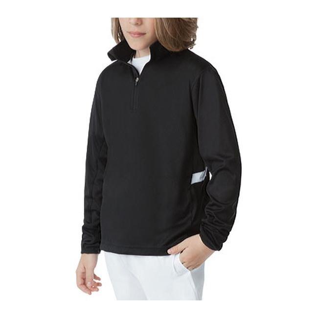 b2ca89afd4bb Shop Fila Boys' Fundamental Half Zip Jacket Black/White - On Sale ...