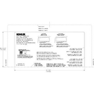 Kohler K-588 Consonance Undermount Installation Kit for Consonance Bath Whirlpool