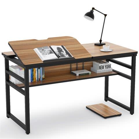 Drafting Desk, Large Computer Desk Craft Workstation