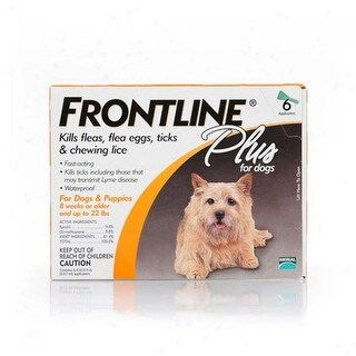 Frontline Flea Control Plus for Dogs And Puppies 11-22 lbs 6 Pack