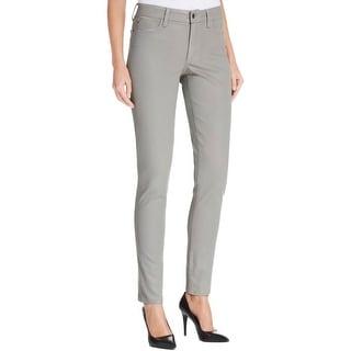 NYDJ Womens Skinny Jeans Coated Mid-Rise
