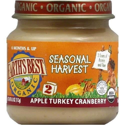 Earth's Best - Organic Junior Apple Turkey Cranberry ( 12 - 4 OZ)