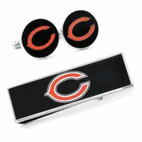Chicago Bears Cufflinks and Money Clip Gift Set NFL - Red
