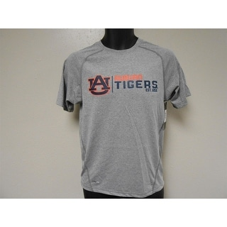 NWT MENDED Auburn Tigers Youth M Medium 10 12 Adidas Grey Climalite T Shirt