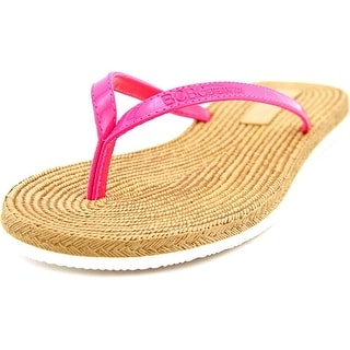 BCBGeneration Yolo Women Open Toe Synthetic Pink Thong Sandal
