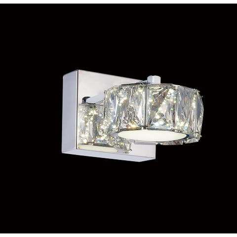 Silver Orchid Baxter LED Wall Sconce with Chrome Finish