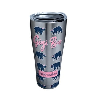 Simply Southern Gigi Bear 30 oz Stainless Steel Tumbler with lid