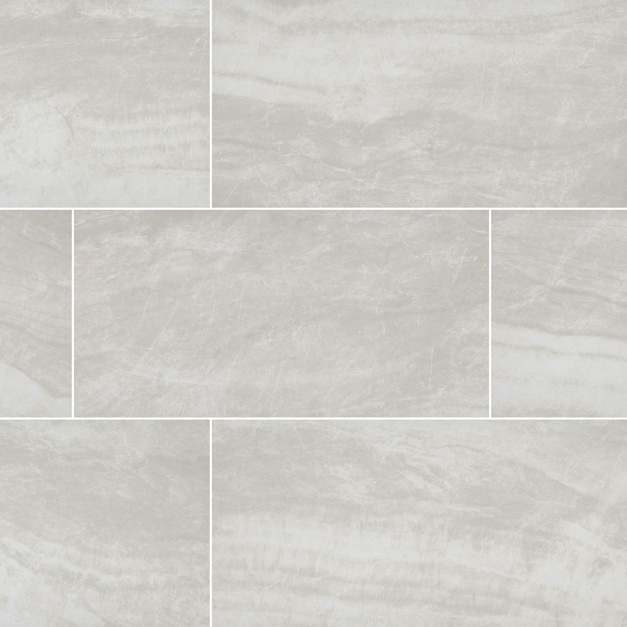 "Blanco MSI NORI1224 Orion 12/"" x 24/"" Rectangle Floor Tile Matte"