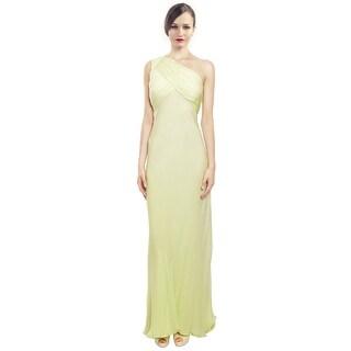 Carmen Marc Valvo Heavenly Silk One Shoulder Evening Gown Dress - 12