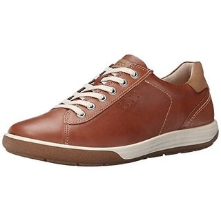 ECCO Womens Chase II Leather Contrast Sneakers