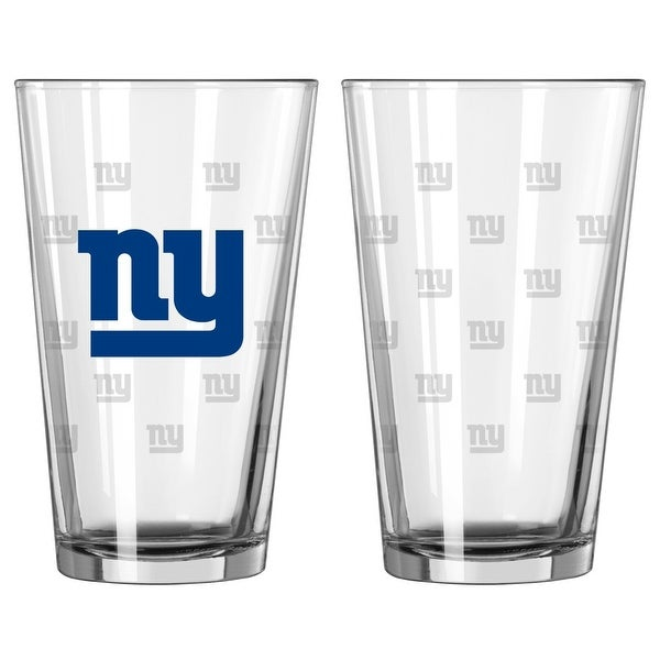 New York Giants Satin Etch Pint Glass Set. Opens flyout.