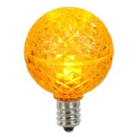 Club Pack of 25 LED G40 Yellow Faceted Replacement Christmas Light Bulbs