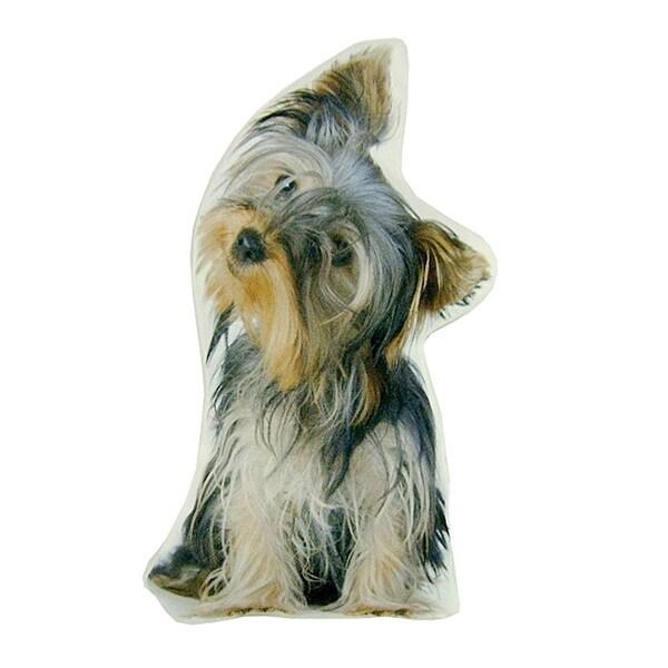 Plump Puppy Cutout Pillow - Yorkshire Terrier