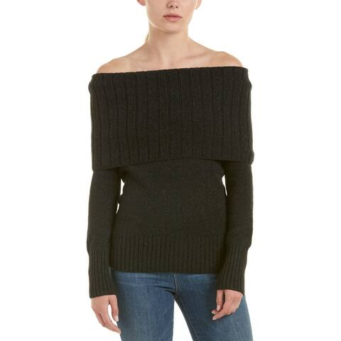 A.L.C. Monica Wool-Blend Cowl Neck Sweater - DARK CHARCOAL