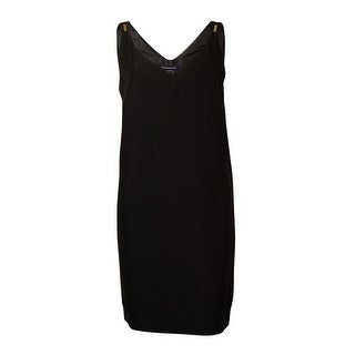 French Connection Women's V-Neck Sleeveless Shift Dress - Black