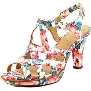 Naturalizer Doreen Women Open Toe Canvas Multi Color Sandals