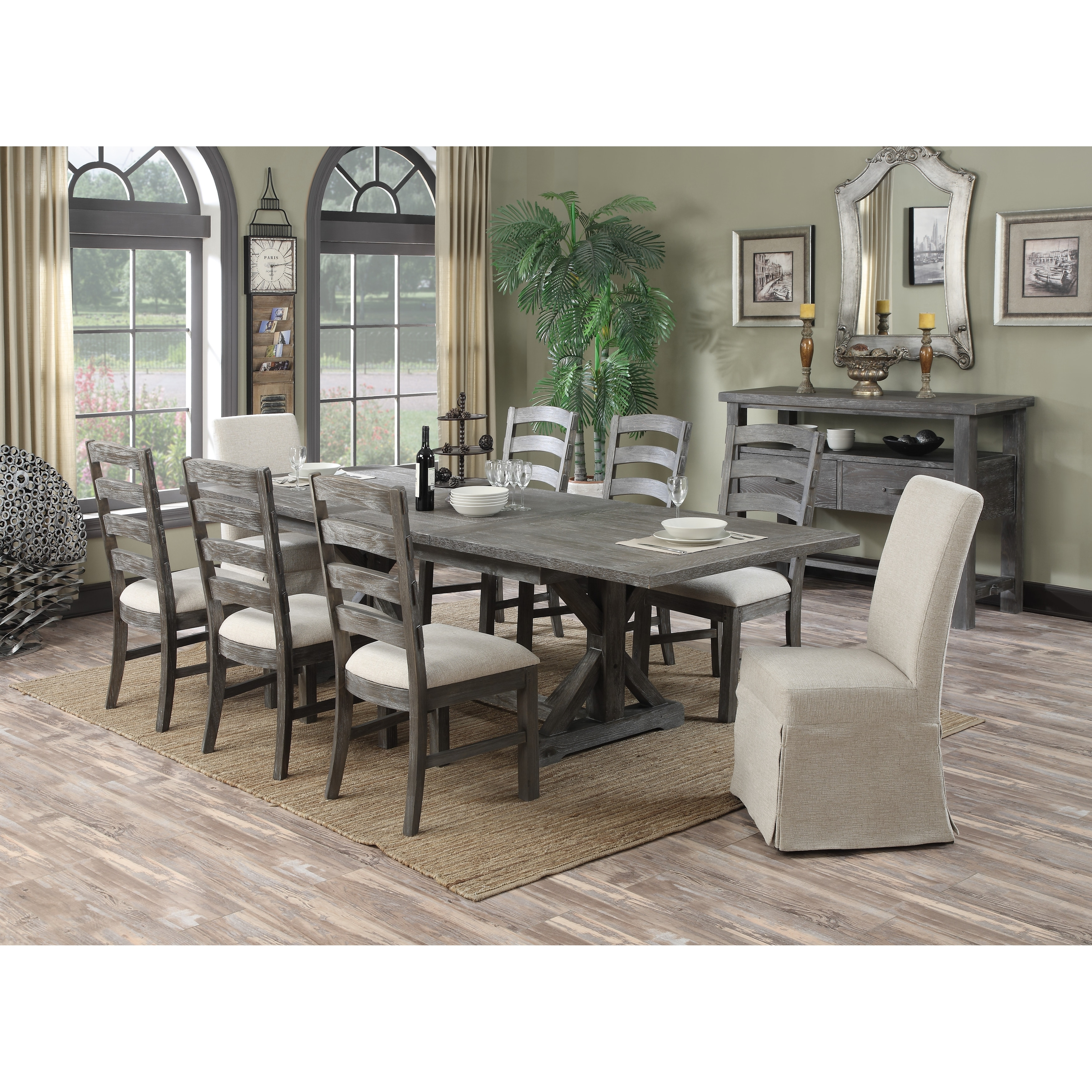 The Gray Barn Snowshill 9 Piece Rustic Dining Room Set Overstock 31635597