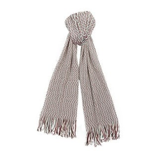 Missoni SA57WMD4692 Pink/Grey Zigzag Knit Wool Blend Ladies Stole