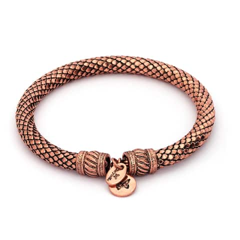 Bohemia Inspiration Wrap Bangle For Women, Rose Gold Plated - Rose Gold