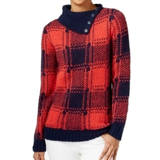 Tommy Hilfiger NEW Red Women's Size Large L Turtleneck Ribbed Sweater